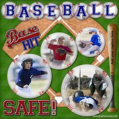 baseball scrapbook layouts | Baseball Allstar - Digital Scrapbooking Layout Gallery - Scrapbook MAX ...