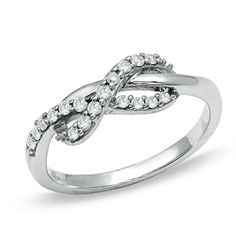 Diamond Infinity Ring in 10K White Gold