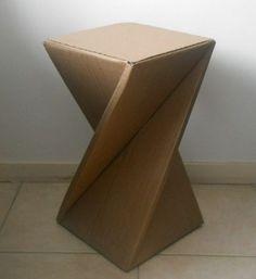Meuble en carton - 60 idées que vous pouvez réaliser vous-mêmes маленький столик сделать самостоятельно из картона, картон дизайна мебели учебника и шика