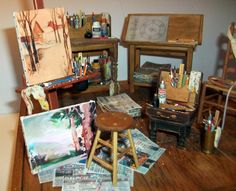 Marquis Miniatures - Rustic Realism: Table Top Art Studio Display