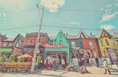 Houses and Shops in Kensington Market Toronto Ontario Canada Photo Wall Art Print Street Market Urban Hipster Hippy Love - 8 x 10 or 8 x 12 Art Toronto, Toronto Photos, Toronto Ontario Canada, Toronto Photography, Cowboy Art, Photo Wall Art, Photo Quotes, Large Prints, Custom Photo