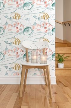Removable wallpaper inspired by Australia's flora and fauna