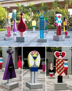 Art Sculpture, Modern Sculpture, Parc A Theme, Art Public, Photo Zone, Memphis Design, Expositions, Museum Exhibition, Design Museum