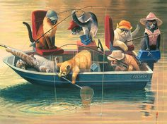 feline fishing