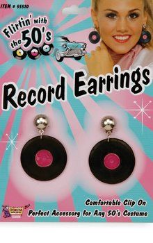 50's Record Earrings - I think I NEED these!