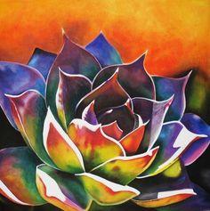 Succulent Painting - Succulent Fine Art Print - Maribel Garzon