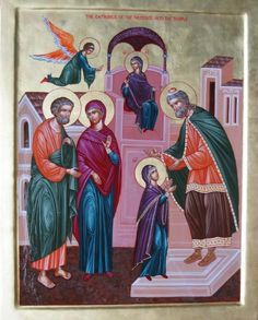 Feasts Presentation of the Theotokos Paint Icon, Religious Pictures, Byzantine Icons, Kindergarten Lessons, Blessed Virgin Mary, Orthodox Icons, Mother Mary, Style Icons, Medieval