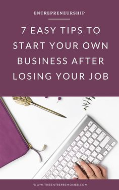 Before you go looking for another job after a job loss, have you thought about trying entrepreneurship? Here's how to start your own business! Business Website, Business Tips, Online Business, Creative Business, Small Business Organization, Internet Money, Working Mom Tips, Lost Job, Business Entrepreneur