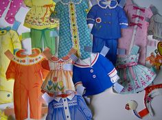 1975 Drowsy paper doll clothes