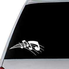 Music Decal | Musical Decal | Car Decal | Mug Decal | Cup Decal | Laptop Decal | Vinyl Decal with Music Notes | Phone Decal | Music Sticker