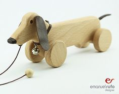 Madera juguete Eco amigable personalizada Pull por emanuelrufo