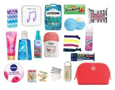 """""""Emergency Kit For School! Comment Your Essentials!"""" by xaspyynx ❤ liked on Polyvore"""