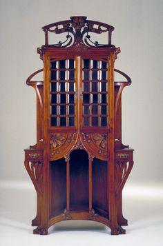 Art Nouveau Cabinet, for the double parlor of Frederico Vercelloni's residence, Sordevolo, Italy, Designer Agostino Lauro, circa 1900 - 1901, The Wolfsonian - Florida International University, Miami Beach, Florida, The Mitchell Wolfson, Jr. Collection