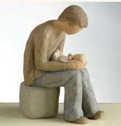 Willow Tree ® New Dad Figurine - By: Susan Lordi Willow Tree Statues, Willow Tree Figures, Willow Tree Angels, Willow Figurines, Wooden Figurines, New Fathers, New Dads, Willow Tree Family, Christian Book Store