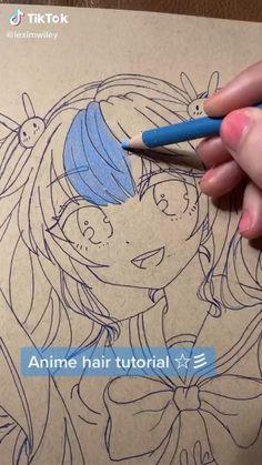 Art Drawings Sketches Simple, Cute Drawings, Anime Character Drawing, Art Inspiration Drawing, Color Pencil Art, Cartoon Art Styles, Drawing Challenge, Art Tutorials, Cute Art