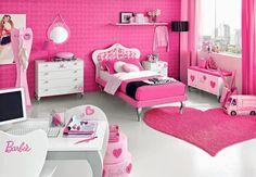 Decoración de dormitorios Barbie.