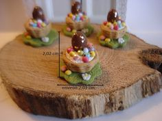 diy dollhouse miniature 1/12 food gourmandise panier de Pâques fimo