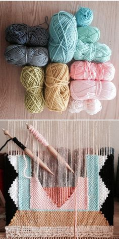 pin weaving for tiny textiles Tapestry Weaving, Loom Weaving, Weaving Art, Straw Weaving, Weaving Wall Hanging, Yarn Crafts, Diy And Crafts, Do It Yourself Baby, Ideias Diy
