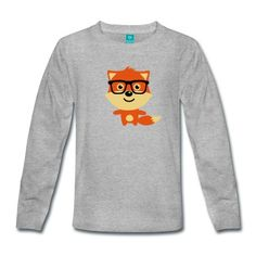 Tee shirt manches longues Fox Cute & Drôle Hipster Bébé avec lunettes nerd #cloth #cute #kids# #funny #hipster #nerd #geek #awesome #gift #shop  Cristabel Crop Top $12- BLACK