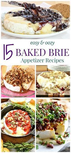 15 Easy and Oozy Baked Brie Appetizer Recipes - no party is complete without cheese! Here are some of the best baked Brie recipes! #EasyAppetizers #someappetizers Finger Food Appetizers, Yummy Appetizers, Appetizers For Party, Avacado Appetizers, Prociutto Appetizers, Simple Appetizers, Mexican Appetizers, Halloween Appetizers, Party Snacks