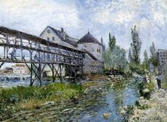 Provencher's Mill at Moret    Artist: Alfred Sisley