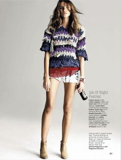 yes, you can wear shorts...: daniela mirzac by walter chin for glamour uk may 2012
