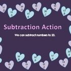 This is a Valentine's themed set games for first graders. The focus is on adding and subtracting numbers to twenty. ...