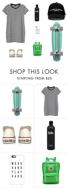 """street style"" by hibaxoxo ❤ liked on Polyvore featuring Manolo Blahnik, Monki, Converse, Casetify and Fjällräven"
