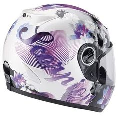 Scorpion Purple & White helmet