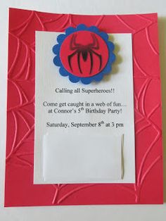 Robyn's Little Nest: A Spiderman Birthday Spiderman Birthday Invitations, Birthday Invitation Templates, Boy Birthday Parties, 4th Birthday, Birthday Ideas, Party List, Invitation Layout, Birthday Numbers, Party Themes
