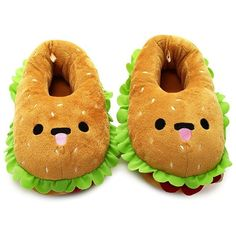 Forever 21 Women's  Hamburger House Slippers ($13) ❤ liked on Polyvore featuring shoes and slippers
