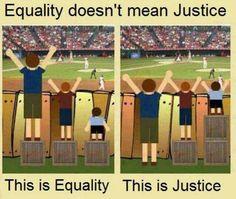 Equidad ves justicia