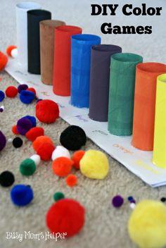 DIY Color Games / by BusyMomsHelper.com #craft #colorgames #kids #learningcolors