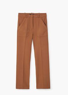 Patch pockets trousers   MANGO