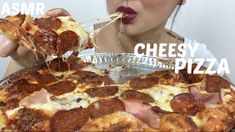 Cheesy Meat Lovers PIZZA | ASMR Eating Sounds | N.E Lets Eat