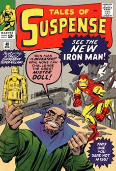 Tales of Suspense #48 Iron Man's New Red and Gold Armor.