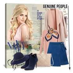 """""""Genuine people"""" by lip-balm ❤ liked on Polyvore featuring iCanvas, Daum, Hermès, Rupert Sanderson, Lanvin, COVERGIRL and Genuine_People"""