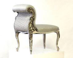 Upholstered French Slipper Chair