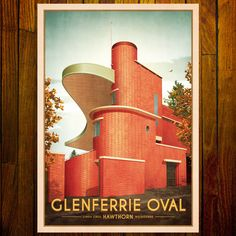 Glenferrie Oval, Hawthorn Old Photos, Vintage Photos, Melbourne Art, Stationery Items, Artsy Fartsy, Vintage Posters, Printmaking, Australia, Colour