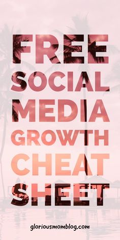 Free social media growth cheat sheet: frustrated with the small amount of followers you have, or your limited engagement? Who has time to grow social media? It's not about spending a ton of time on it as a blogger, it's about doing the right things! Get your free guide at gloriousmomblog.com.