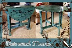 """Just perfect for the small space! This drop leaf was done in Miss Mustard Seeds Milk Paint """"kitchen scale"""". For more info visit my fb page at http://www.facebook.com/Distressedmama"""