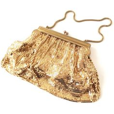 Vintage shiny gold mesh bag . Evening bag . Bridesmaids purse . Bling... ($76) ❤ liked on Polyvore featuring bags, handbags, clutches, vintage purse, handbag purse, gold clutches, evening handbags, vintage handbags and evening clutches