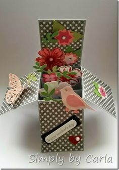 Mother's day card Box card