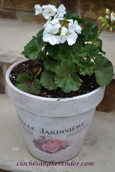 how to make French flower pots.