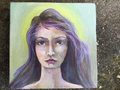 Original Mixed Media Fantasy Girl Painting by VividSpirit on Etsy