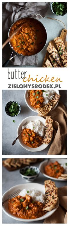 butter chicken, czyli najpyszniejsze danie kuchni indyjskiej! kremowy, aromatyczny sos, a w nim pływający soczysty kurczak.