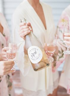 cheers! rose wine |