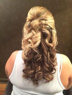 Soft bridal up-do @Salon8736