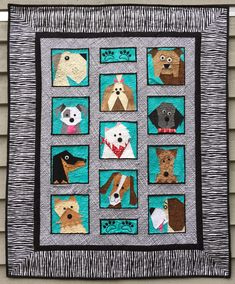 Dogs Only Paper Pieced Quilt Pattern