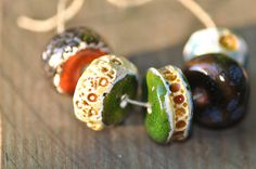 ceramic discs colorful beads boho beads ceramic components
